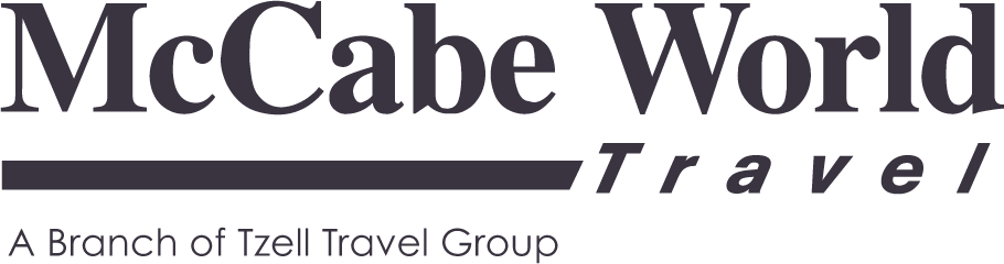 McCabe World Travel Company Logo and Wordmark
